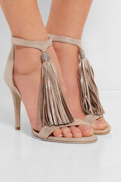 free shipping many kinds of clearance for nice Jimmy Choo Viola Tassel-Embellished Sandals Cheapest cheap online TMzSP