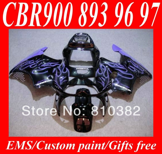 332.01$  Watch here - http://alijyc.worldwells.pw/go.php?t=1788167754 - Hi-grade Motorcycle Fairing kit for HONDA CBR900RR 96 97 CBR900 893 CBR900RR 1996 1997 Blue flames black ABS Fairings set HE28