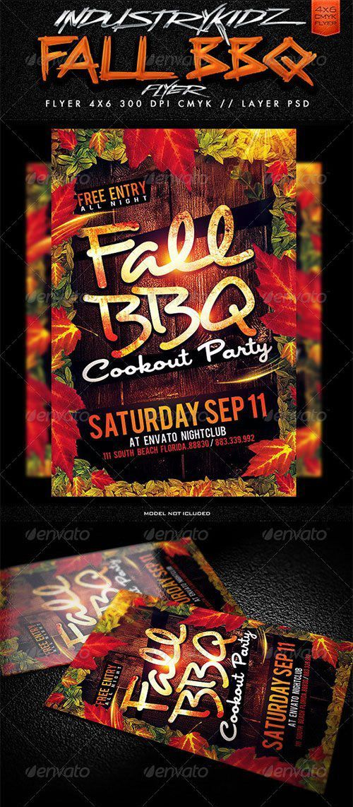 download fall bbq flyer template free