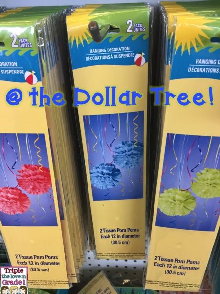 Pom Poms At The Dollar Tree