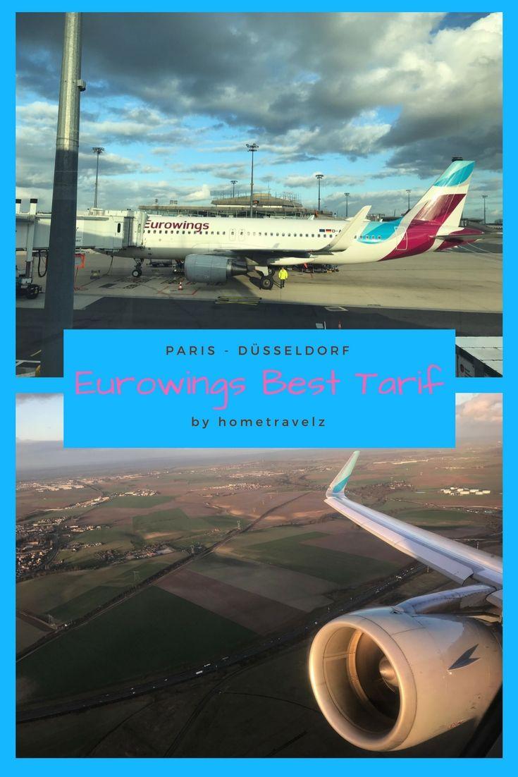 Flug im A320 von Eurowings im Best Tarif. Paris nach