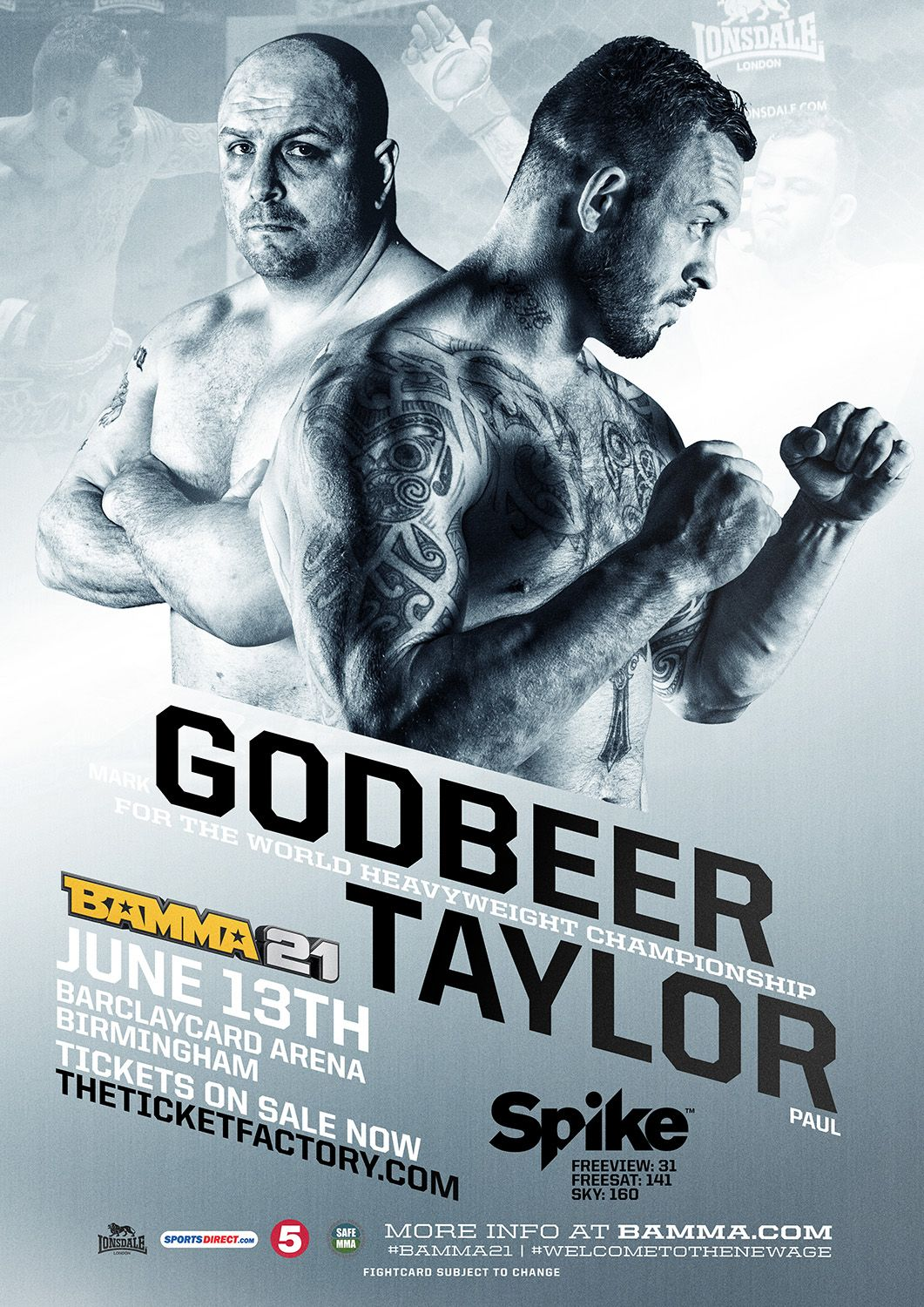 Mark The Hand Of Godbeer Vs Paul Titan Taylor Bamma World Heavyweight Title Bamma21 Mma Welcometothenewage Mma June Taylor Poster
