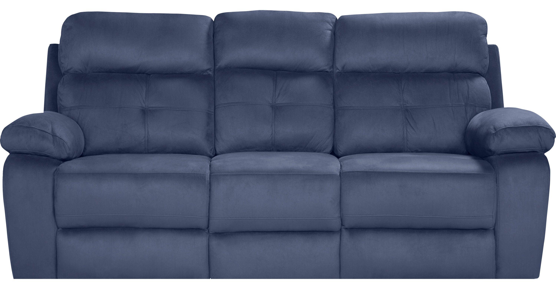 Sofas Rooms To Go Corinne Blue Reclining Sofa 11251054 Blue Reclining Sofa Reclining Sofa Reclining Sofa Decor