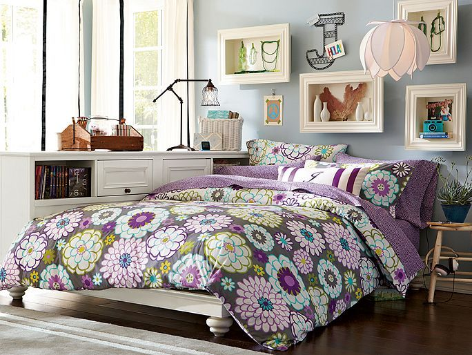 I love the PBteen Madison Floral Chelsea Bedroom on pbteen.com   PB ...
