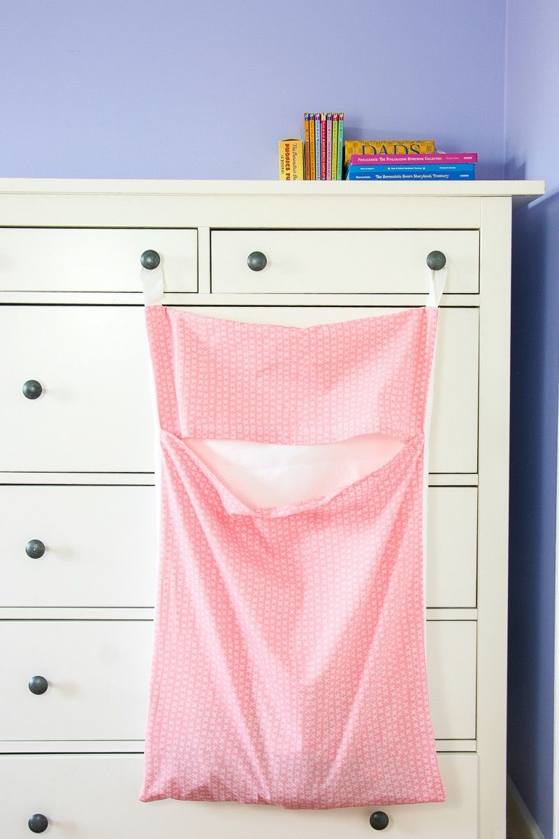 DIY : Make your Own Hanging Laundry Bag -   21 DIY Clothes For Kids laundry rooms