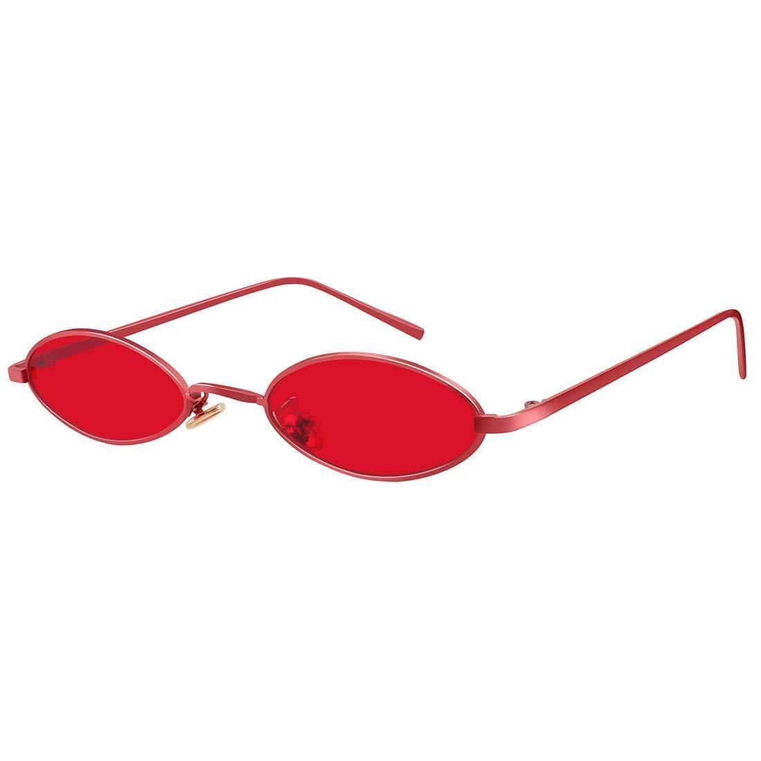 c9a40487b3 ROYAL GIRL Vintage Oval Sunglasses Small Metal Frames Designer Gothic  Glasses