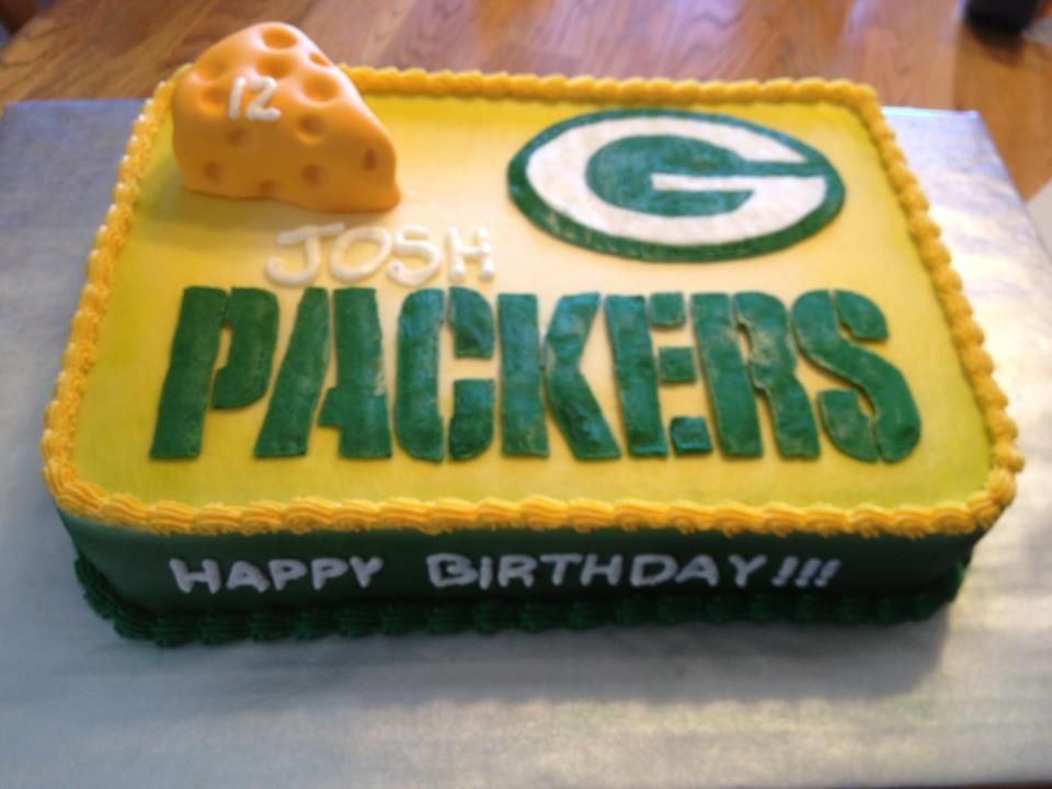 Magnificent Green Bay Packers Cake With Images Green Bay Packers Cake Personalised Birthday Cards Veneteletsinfo