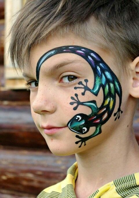 Animal around the face, did this with a fox, a butterfly, … – animal … – Modern