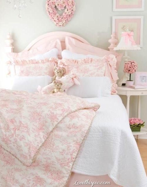 Sweetheart Pink Bedroom girl pink home princess pretty bed decorate little bedding