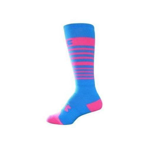 a2fbf42f5d4 UNDER-ARMOUR-GIRLS-STRIPE-SNOW-SPORTS-KNEE-SOCKS-BLUE-PINK-YTH-LARGE ...