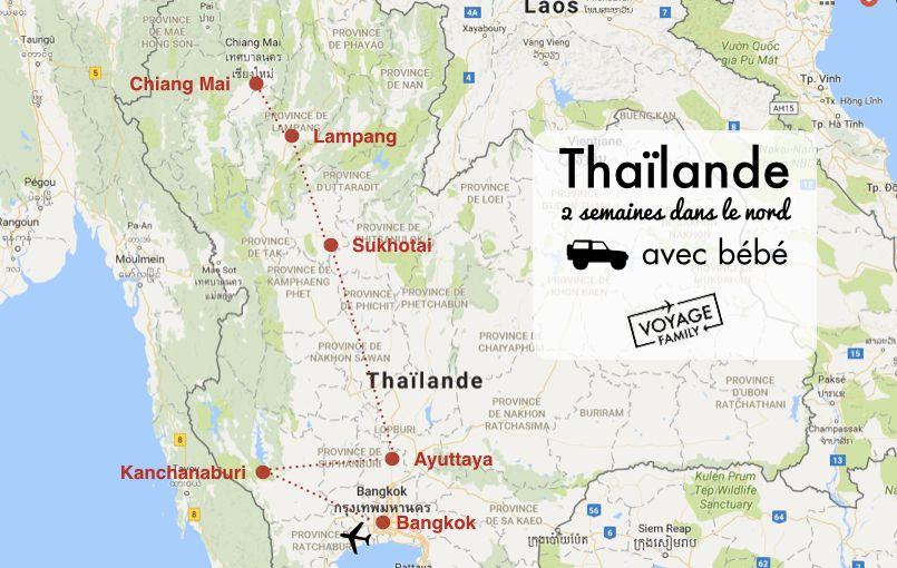 Carte Thailande Avec Distance.Carte Nord Thailande Avec Enfant Et Bebe Voyage Thailande
