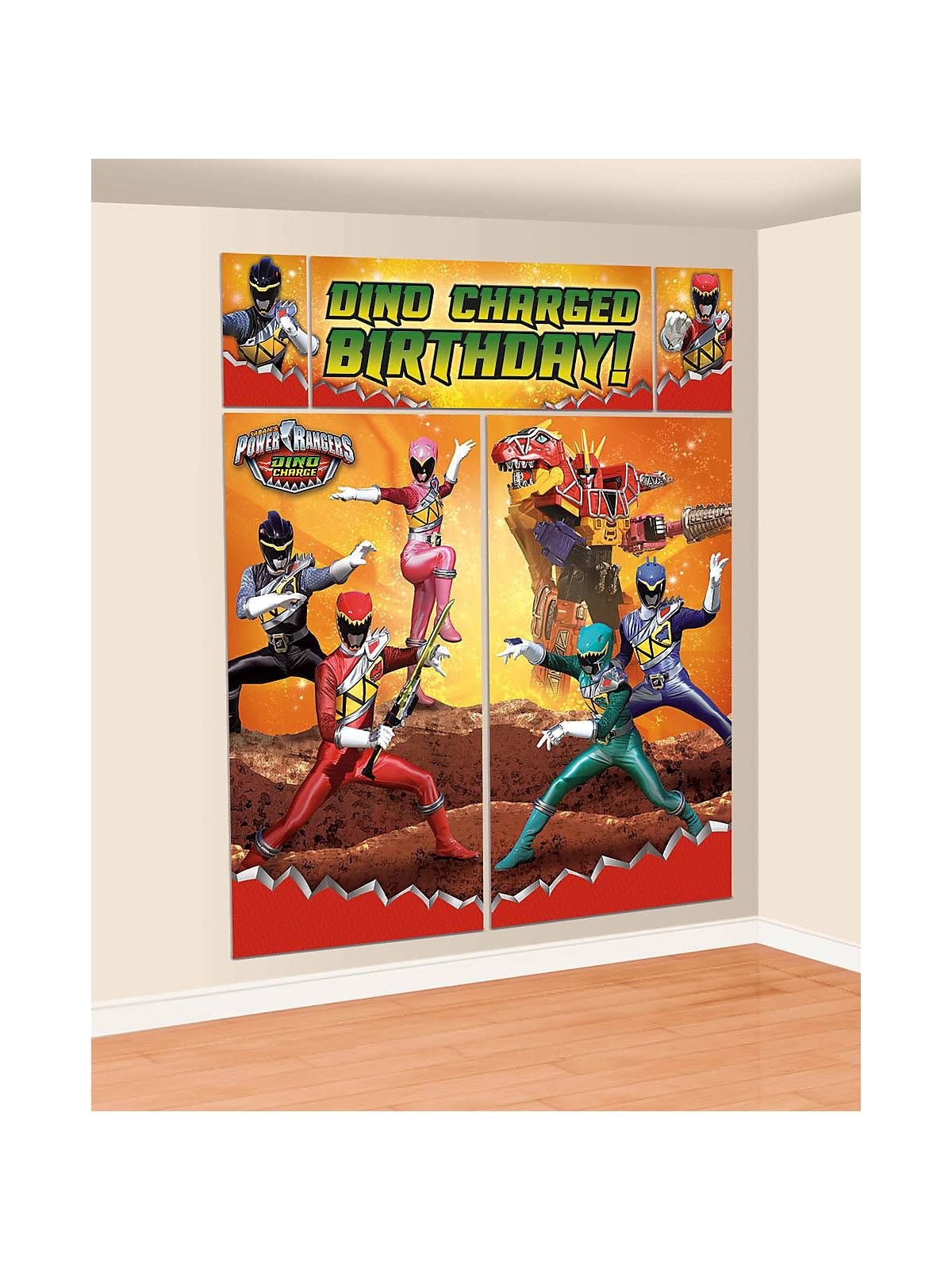 Power Rangers Dino Charge Wall Decorating Set | Individual Party Supplies Part 85