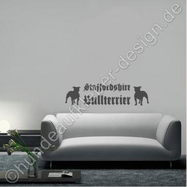 Staffordshire Bullterrier Aufkleber Aufkleber Staffordshire Bullterrier Hintergrund Farbe