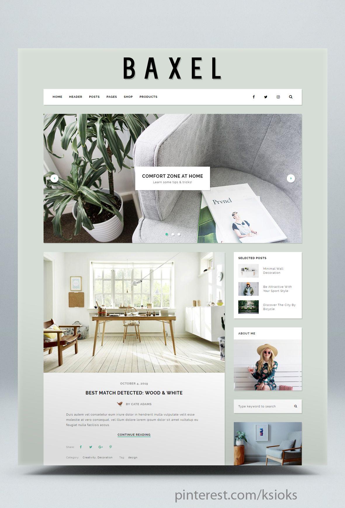 Minimalist WordPress Blog Theme Blog themes wordpress