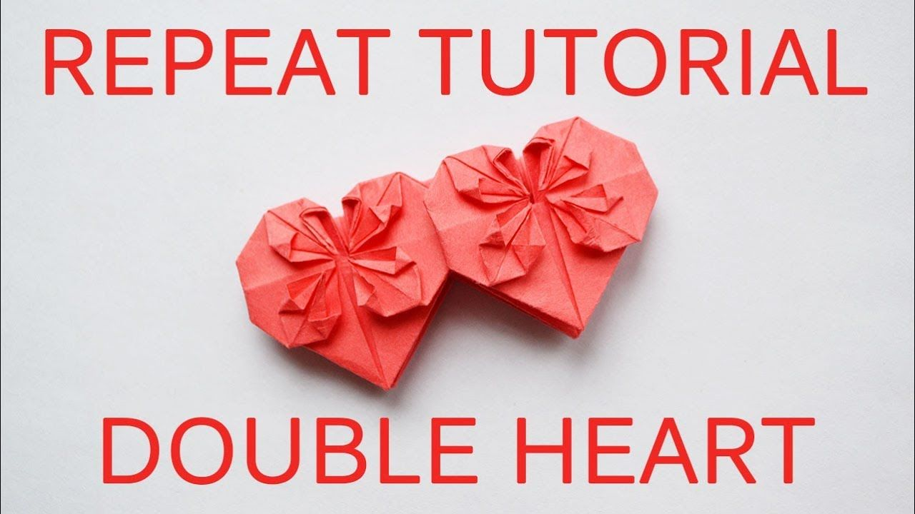 Repeat Tutorial Money Double Heart Step By Step Origami Dollar Tut Money Origami Money Origami Tutorial Origami