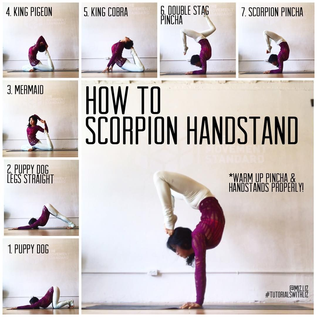 HOW TO SCORPION HANDSTAND✨ . Poses to warm your scorpion handstand ❤️ Things that need to happe #pilatesposes