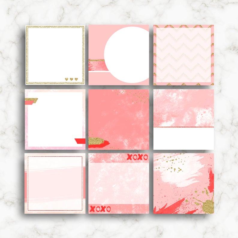 Pink Template For Creating Instagram Post Desain Tekstil