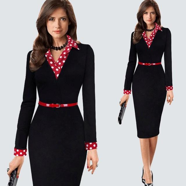72a1b442e58 Women s Vintage Business Dress.  womensfashion  womenswear