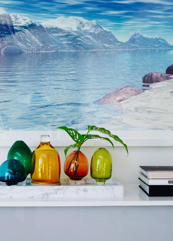 Interior with Amanda Dziedzic's vases