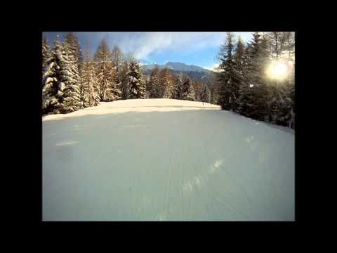 ▶ Alpe Lusia Bellamonte: pista blu Castelir - YouTube
