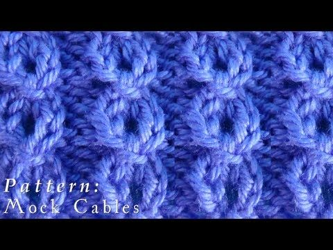 How To | Mock Cables | Pattern - YouTube | Proyectos que intentar ...