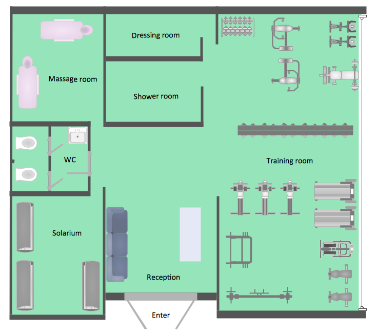 Office Layout Software Create Great Looking Office Plan Office Layout Floor Plan With Conceptdraw In 2020 Floor Plans Floor Plan Layout Gym Plans