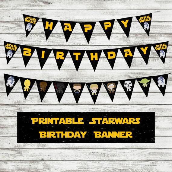 STAR WARS Happy Birthday Banner