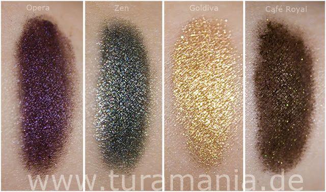 Zoeva Pigments in Opera, Zen, Goldiva and Cafe Royal
