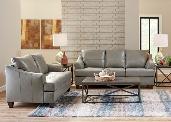 Darick Gray 2 Pc Living Room W Queen Sleeper Sofa The Roomplace Living Room Sets Living Room Leather 3 Piece Coffee Table Set