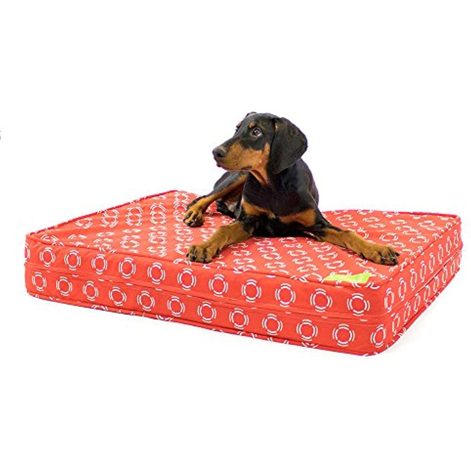 eLuxurySupply Dog Bed Modern Red Orthopedic Gel Memory
