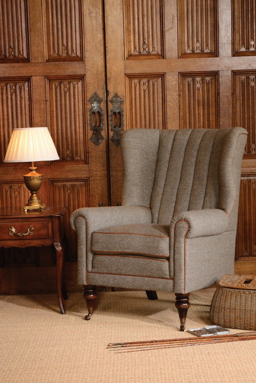 Dunmore chair blue chairs living room leather chaise