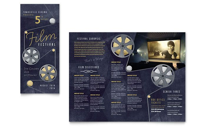Film Festival Brochure Template Design by StockLayouts Book - brochure template word