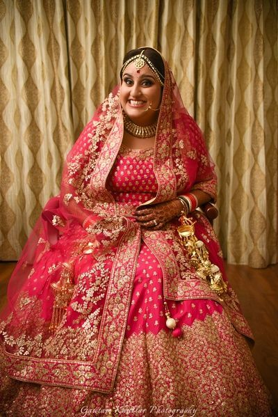 Plus Size Bridal Saree