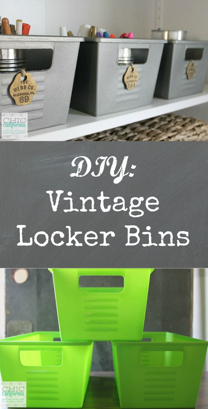 Dollar Store DIY: Vintage Locker Bins | Vintage lockers, Dollar ...