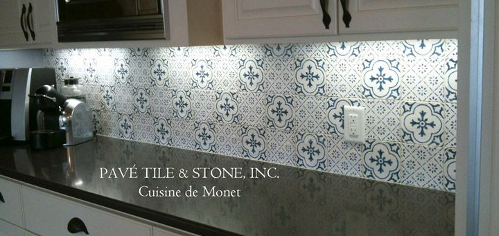 "Decorative Wall Tiles Kitchen Blue And White Cuisine De Monet Decorative Wall Tile ""gate"