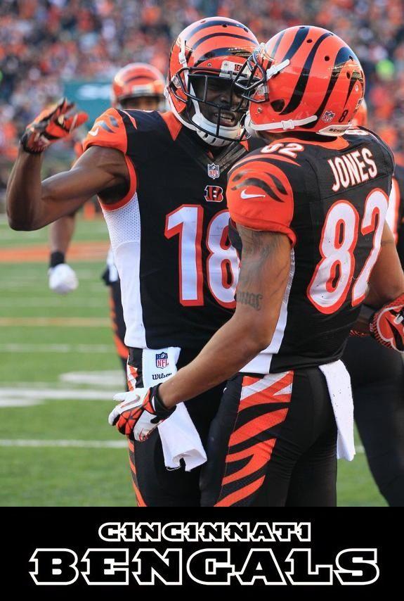 Sports Football Cincinnati Bengals A J Green Marvin Jones Bengals Football Bengals Nfl Cheerleaders