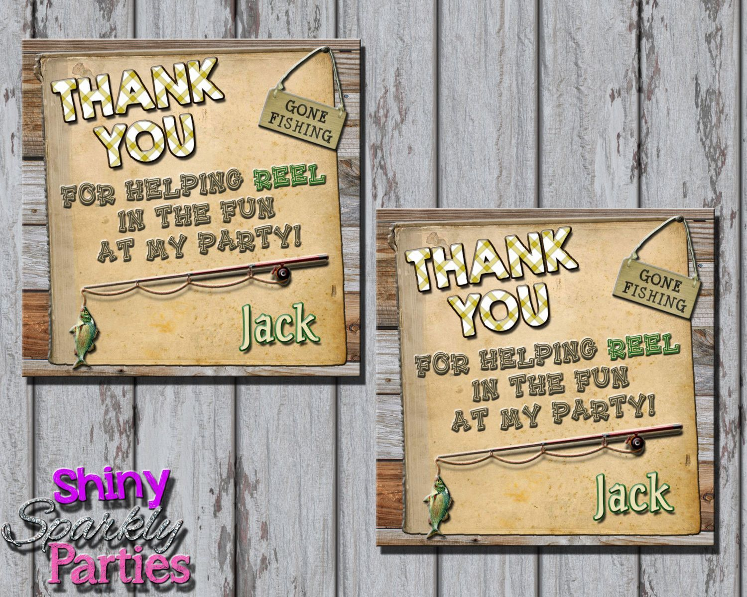 Fishing Party Favor Tags Party Favor Tags Birthday Favors