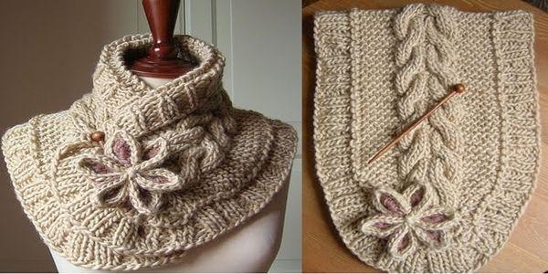 DIY A Beautiful Knit Scarf with Free Pattern | Bufandas de punto ...