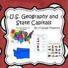 This is just a small portion to my Mega Maps and Geography Bundle!   It includes: Map of U.S.A puzzle State Capital Matching Game State Capital Bin...