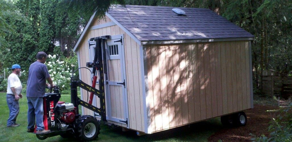 There are a few ways to move your shed in the backyard