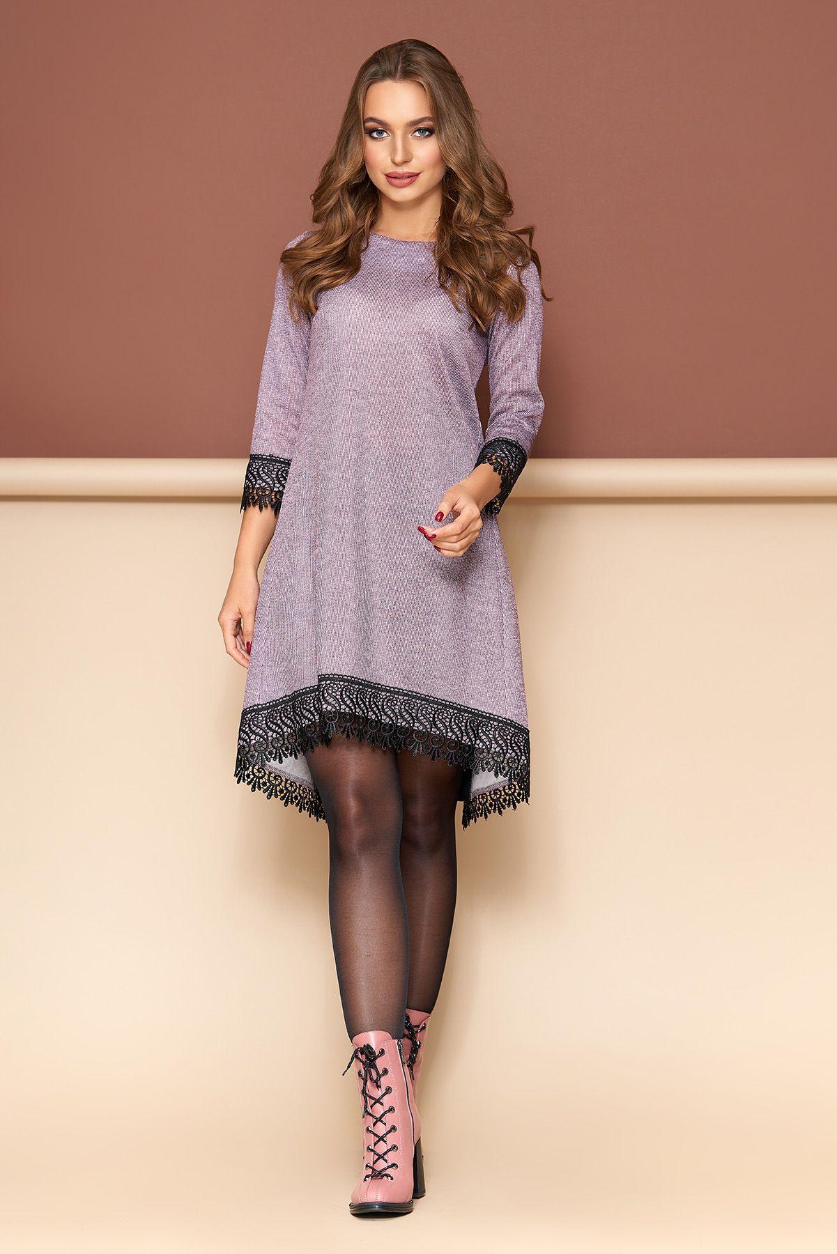 20e48f9f9b11e4 Стильна новинка від Максимода - стильне плаття з мереживом.  Трапецієподібний силует, по спинці вставка