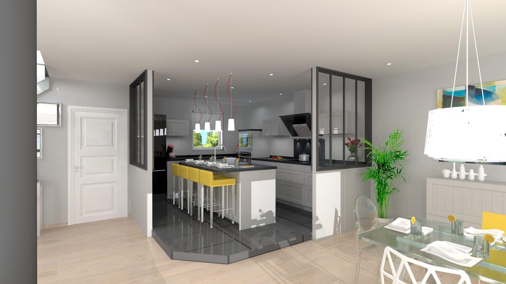 cuisine ouverte avec ilot 4 semi petite cuisine ouverte nice architecture design. Black Bedroom Furniture Sets. Home Design Ideas