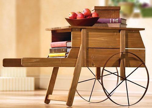 Unique Wheelbarrow End Table Coffee Table Accent Table Philly - Wheelbarrow coffee table