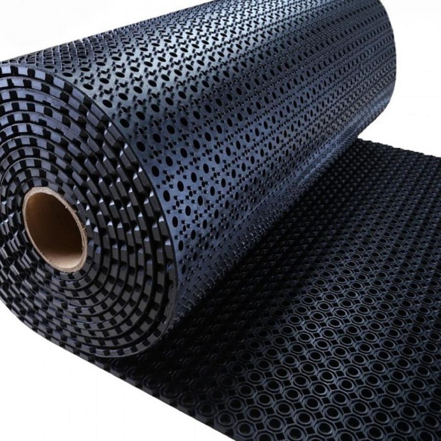 Envelor Octoflow Perforated Rubber Floor Mat, 3 X 32 Ft