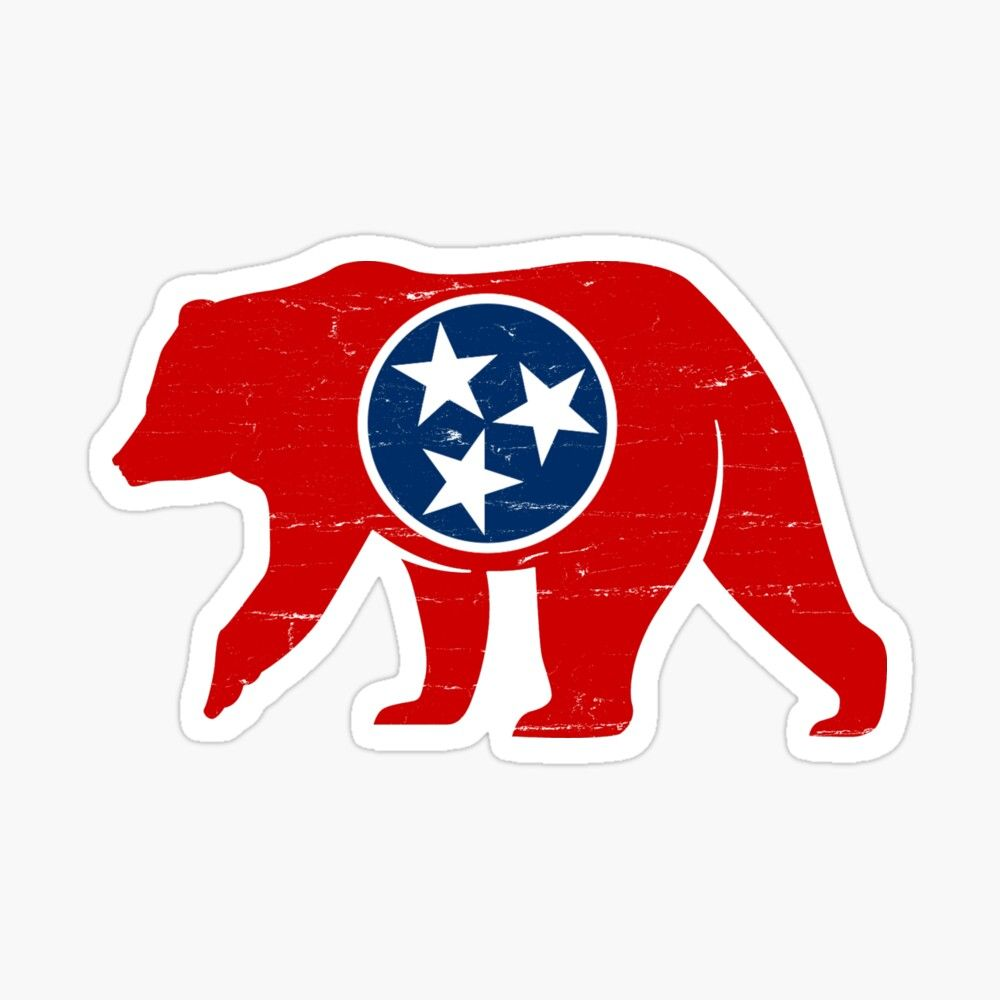 Get My Art Printed On Awesome Products Support Me At Redbubble Rbandme Https Www Redbubble Com I Sticker Tenn In 2020 Tennessee Flag Tennessee Flag Art Black Bear