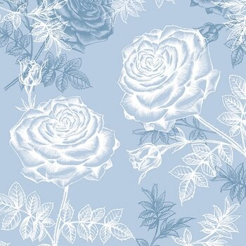 Decoupage for Party 4x Paper Napkins Rambling Rose Blue