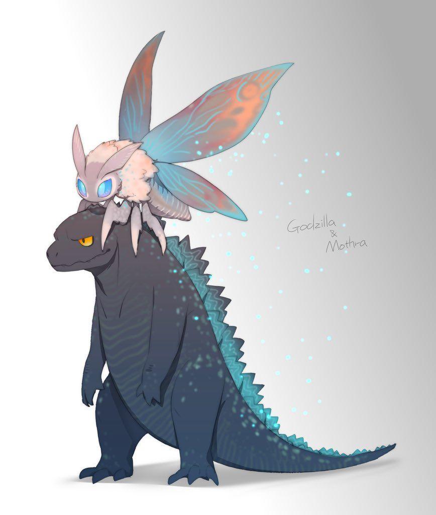 2 Twitter Godzilla Comics Godzilla Funny Kaiju Art