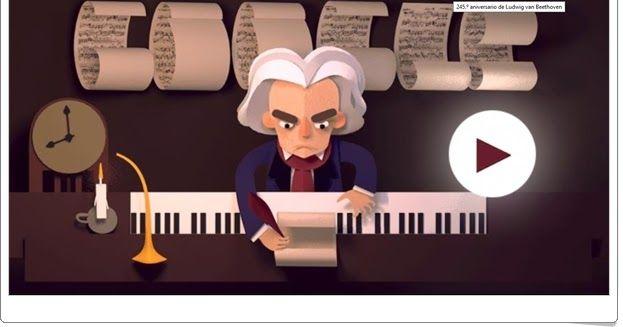 Las Partituras De Beethoven Juego De Música Doodles De Google Logotipo De Google Doodle