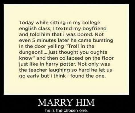 HE IS THE ONE I'm torn between laughing and going AWWW and people are looking at me like I'm nuts #harrypotterfunny