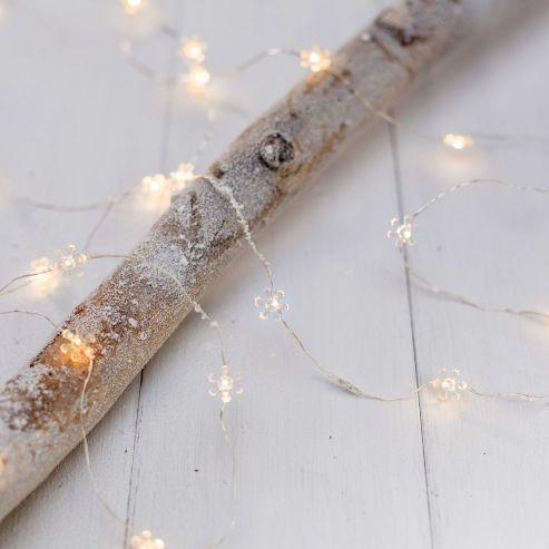 40 Warm White Led Sunflower Micro Battery Fairy Lights